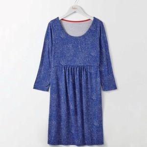 Boden green blue starlight spot tunic dress H